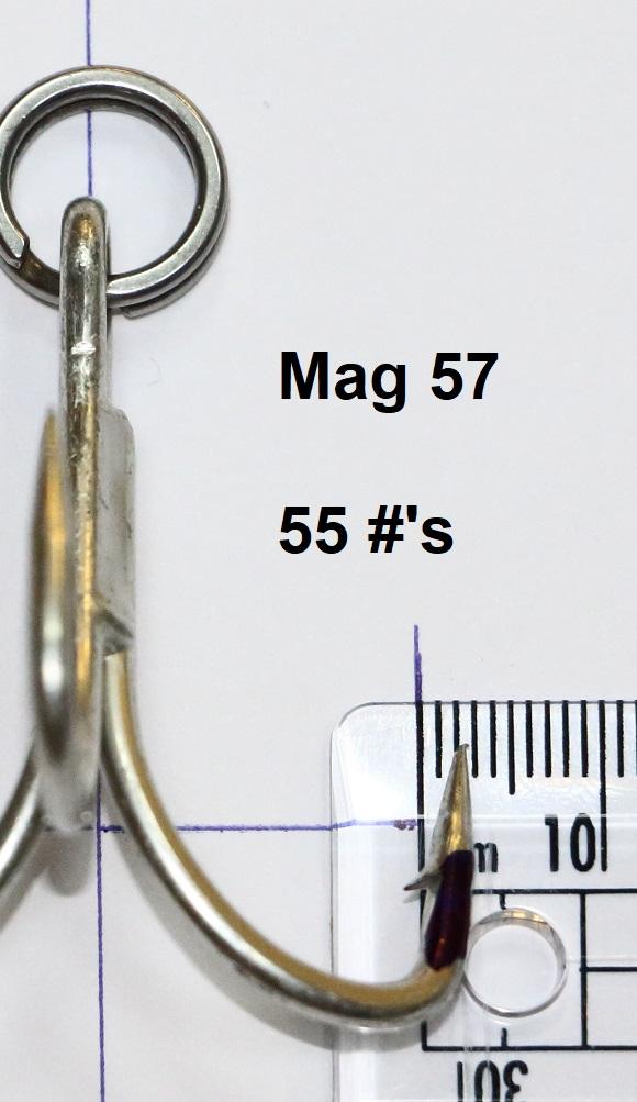 Treble hooks for tuna st-66