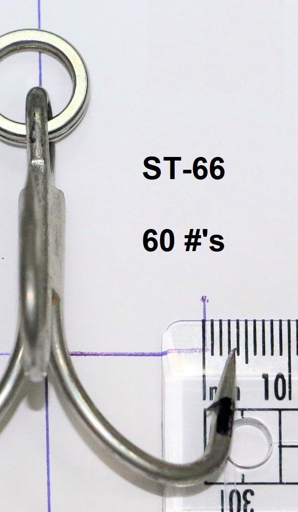 Treble hooks for tuna st-76